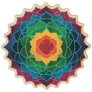 Chakra Blossom Wall Hanging, Made in USA