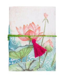 Eco-Friendly Handmade Cotton Lotus Journal