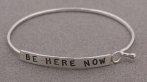 Inspirational Jewelry, Be Here Now Bracelet, Silver (USA)