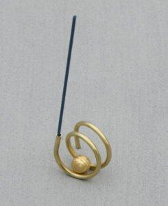 Modern Brass Spiral Incense Holder, USA