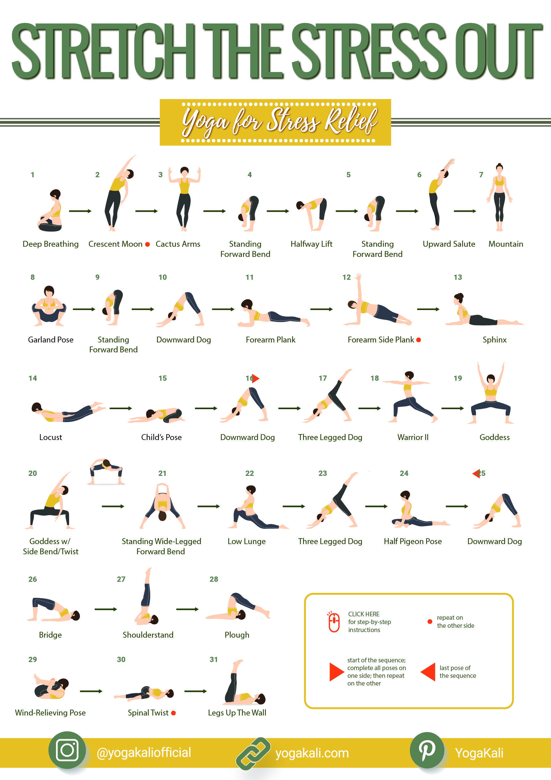 Yoga routine for stress relief: preview