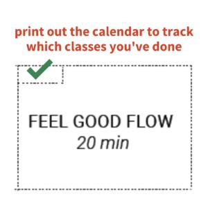 Free Printable Yoga Workout Calendar