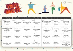 Free Yoga Workout Calendar Preview