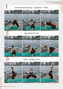 Power Yoga Moves Cheat Sheet Preview