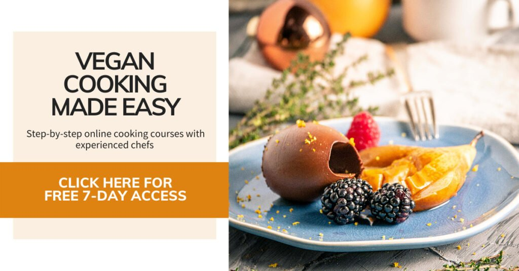 Vegan online cooking courses with experienced chefs - click here for your free 7-day trial