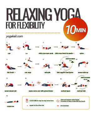 yoga stretch printable preview
